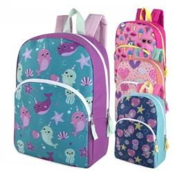 Lot of 24 Wholesale 15 Inch Character Backpacks for Girls in