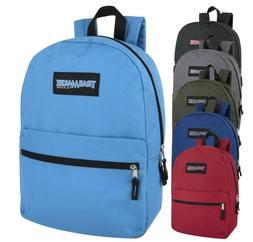 """Lot of 24 Wholesale Bulk 17"""" School Backpacks Trailmaker New"""