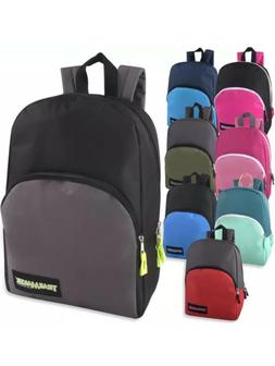 Lot of 24 Wholesale Trailmaker Classic 15 Inch Backpacks in
