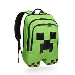 Minecraft Backpack School bag For Boys Kids Green Creeper Sp