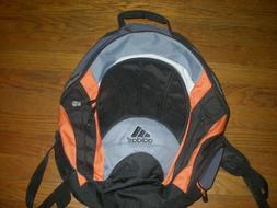 NEW Adidas  Black,Gray and Orange Big Student Backpack NEW