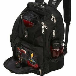 "NEW SWISS GEAR ScanSmart Backpack Hiking Black 17"" Laptop Co"
