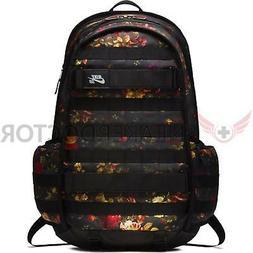 "New Nike SB RPM Solid Backpack ""Floral""  Black/Red/Gold Lapt"