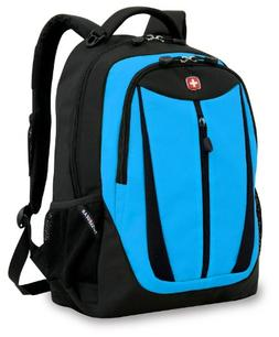 Swiss Gear SA3077 Black with Blue Lightweight Laptop Backpac