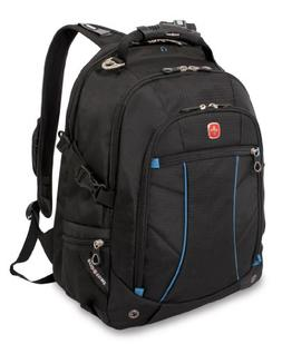 Swiss Gear SA3118 Black with Blue Laptop Backpack - Fits Mos