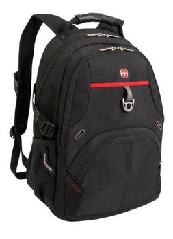 Swiss Gear SA3183 Black with Red Laptop Backpack - Fits Most