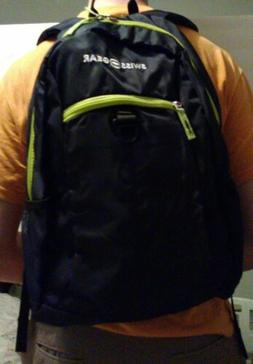 Swiss Gear Student Backpack for Laptops Black/Lime Green