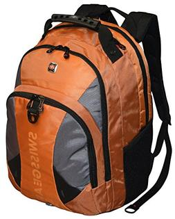 "SwissGear® Pulsar 16"" Padded Laptop Backpack - Black/Orange"