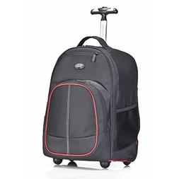 Targus Compact Rolling Backpack for 16-Inch Laptops, Black/R