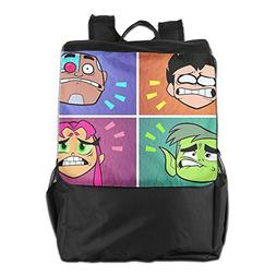 Teen Titans Go Comedy Adventure Outdoor Backpack Travel Bag