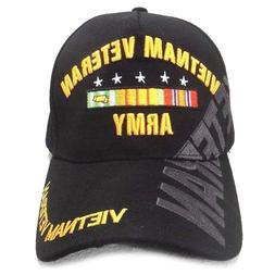 US Army Vietnam Veteran Hat Black Adjustable Cap