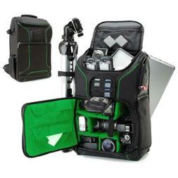 "USA GEAR Digital SLR Camera Backpack w/15.6"" Laptop Compartm"