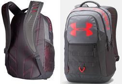 Under Armour Big Logo 5.0 Backpack,Steel /Marathon Red, One