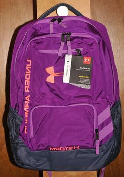 Under Armour Storm Hustle 2 Backpack  Purple Gray Orange #12