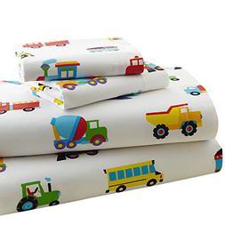 Wildkin Toddler Sheet Set, 100% Cotton Toddler Sheet Set wit