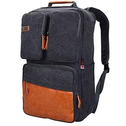 Witzman Men Retro Canvas Backpack Travel Rucksack Casual Duf