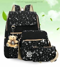 Women Canvas Backpack Cute Girls Shoulder Bags Teen Backpack