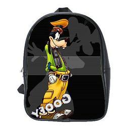Women Men School Backpacks Bag Leather Goofy Disney Cartoon