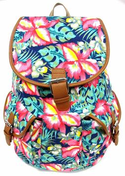 Women's Travel Outdoor Canvas Backpack Large Size Padded Str