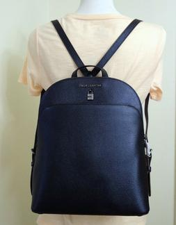 Michael Kors Adele Pebbled Leather Large Backpack in Midnigh