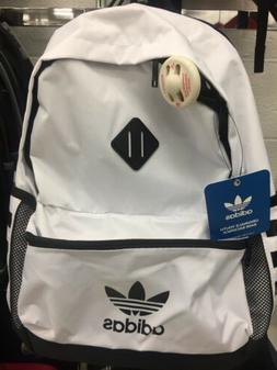 "ADIDAS Trefoil Originals Base YOUTH White Backpack 18"" Schoo"