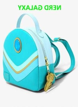 aladdin jasmin mini faux leather backpack new