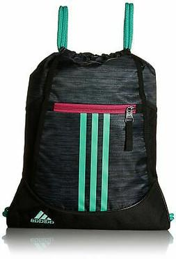 adidas Alliance II sackpack, Green/Bahia Magenta, One Size