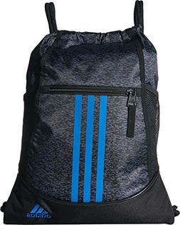 adidas Alliance II Sackpack, Onix Pixel/Black/Bright Blue, O