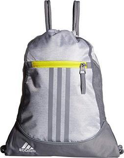 adidas Alliance II Sackpack, White Jersey/Grey/Shock Yellow,