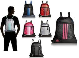 adidas Alliance Sack Pack Drawstring Gym Bags Unisex Backpac