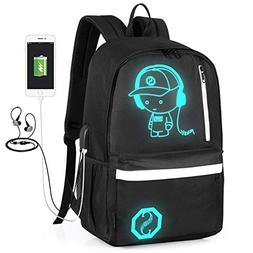 GAOAG Anime Luminous Backpack Daypack Under 15.6 inch with U