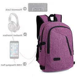 Anti-Theft Business Laptop Backpack with USB Charging Port 1