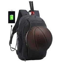 Anti-theft Laptop Notebook Backpack USB Outdoor Basketball B