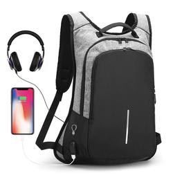 Anti-Theft Men Women Travel Backpack External USB Charge Por