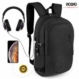 anti theft waterproof mens backpack external usb