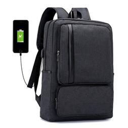 "Antitheft Men Women USB Charging Port Backpack 16"" Laptop Tr"
