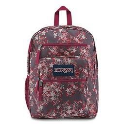 Authentic JanSport Big Student Backpack New GREY/MAROON/PINK