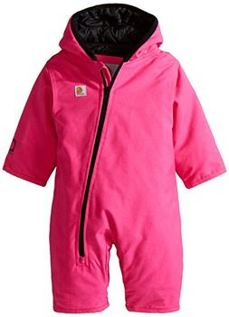 Carhartt Baby Girls' Quick Duck Snowsuit Taff Lined, Pink, 6