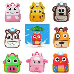 Baby Kids Boy Girl Animal casual Backpack Cartoon Small Shou