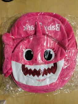 Baby Shark Backpack Pink Mommy Plush Cartoon Children Kids S