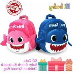 Baby Shark Backpack Plush Cute Cartoon Animal Bag Children K