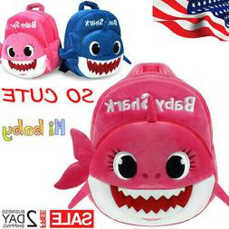 Baby Shark Backpack Plush Cute Cartoon Animal Bag For Childr