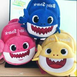 Baby Shark Soft Backpack Cartoon Plush Book bag Kids Toddler