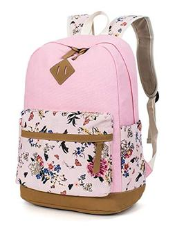 Leaper Floral School Backpack College Bookbag Shoulder Bag S