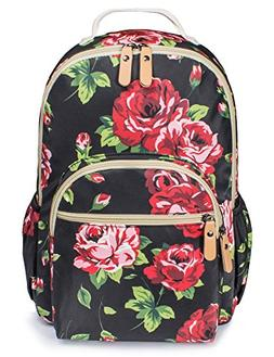 Backpack for Teenage Girls, Floral College Student School Sc