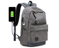 Doingbag Backpack with USB Charging Port Laptop Backpack Tra