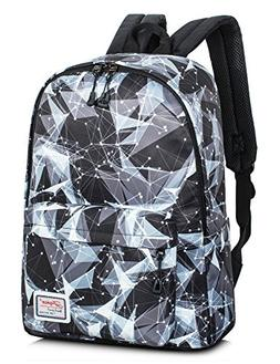 Backpack for Teens, Fashion Geometric Pattern Backpack Colle