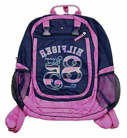 TOMMY HILFIGER BACKPACK BAG GYM TRAVEL TOTE WOMENS NAVY PINK