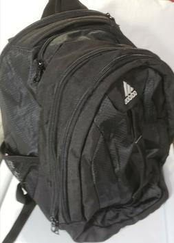 Adidas Backpack, black nylon Prime V unisex pack for school,