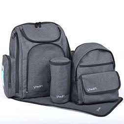 Filberry Backpack Diaper Bag Set – Large & Small Backpacks